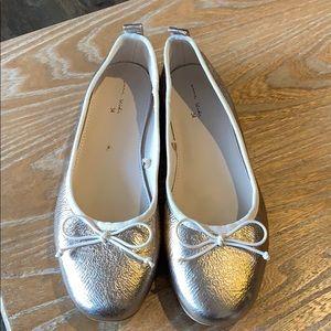 Zara Girls Metallic Gold Ballet Flats